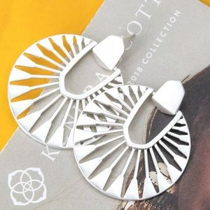 KENDRA SCOTT SILVER DIDI EARRINGS NEW ON CARD